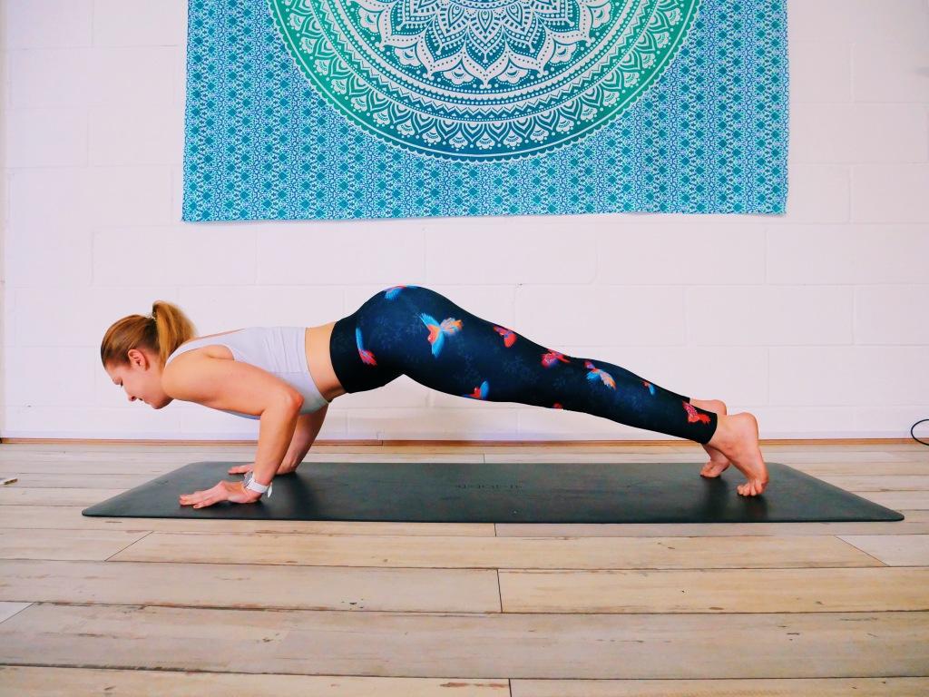 Chaturanga error bum sticking up yoga