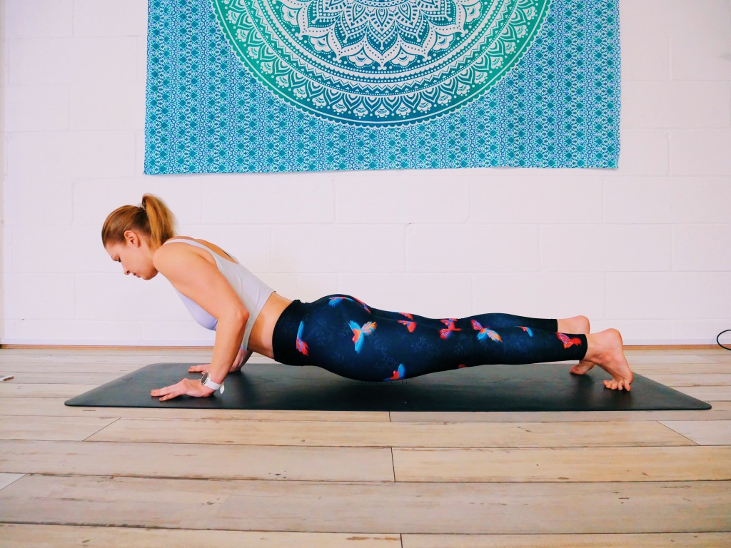 Chaturanga error collapsing through core belly midsection yoga