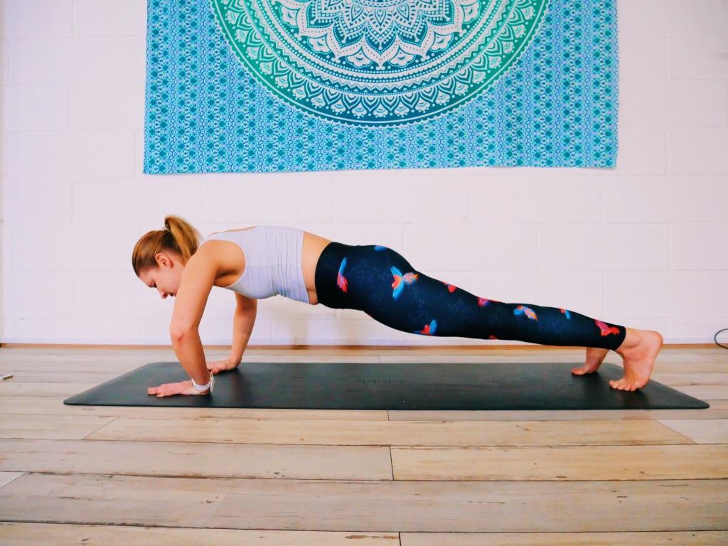 Chaturanga error elbows out yoga