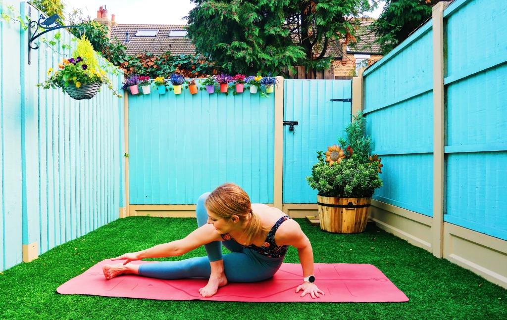 arm balance yoga baby grasshopper how to tutorial